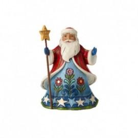 Babbo Natale con asta Stellata Jim Shore