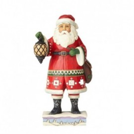 Babbo Natale con Lanterna Jim Shore