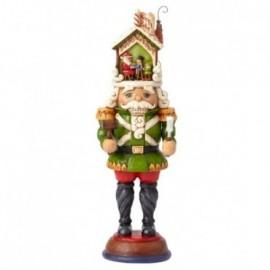 Schiaccianoci con officina di Babbo Natale Jim Shore
