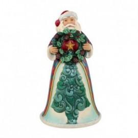 Babbo Natale con Corona di Natale Jim Shore
