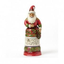 Babbo Natale Regale Rosso e verde Jim Shore