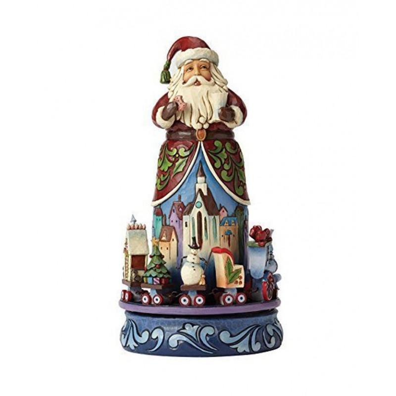 Babbo Natale con trenino Natalizio Jim Shore