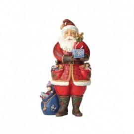 Babbo Natale con regali dipinto Jim Shore