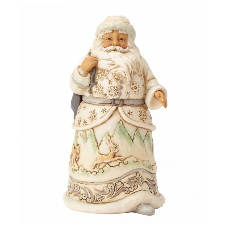 Babbo Natale  Bianco con Pattini Jim Shore
