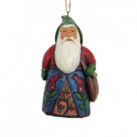 Addobbo Babbo Natale in stile folk con Cardinali Rossi Jim Shore