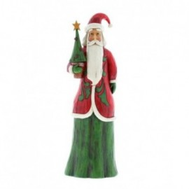 Babbo Natale in stile Folk con albero Jim Shore