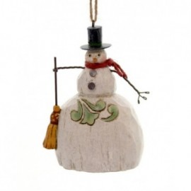 Ornamento Pupazzo di neve con Stella Jim Shore