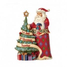 Babbo Natale con Albero celebrativo del 15esimo anno della Jim Shores Heartwood Jim Shore