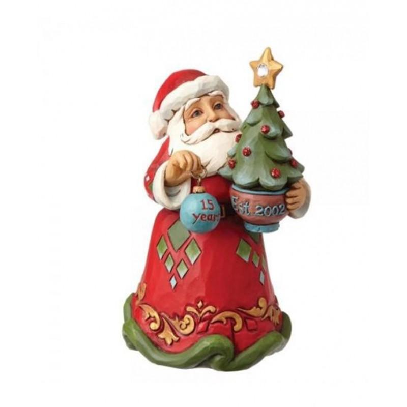 Addobbo Babbo Natale celebrativo del 15esimo della Jim Shores Heartwood Jim Shore