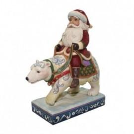 Babbo Natale con Orso Polare Jim Shore