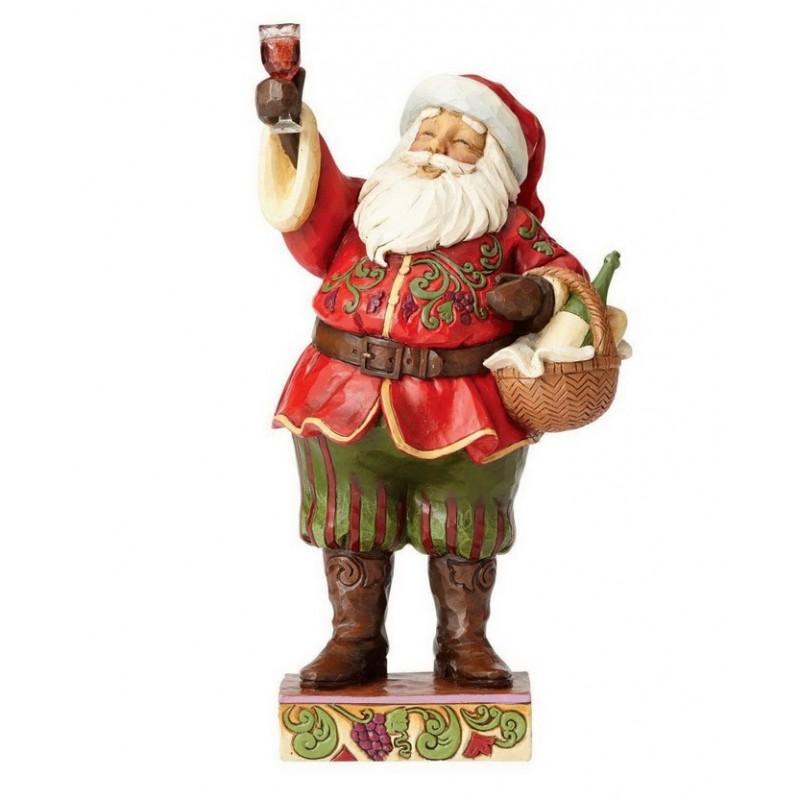 Babbo Natale con Bicchiere di vino Jim Shore