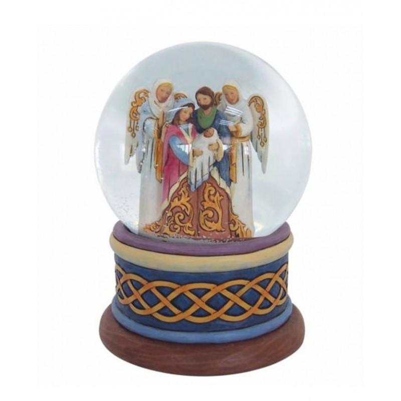 Palla di vetro con Natività Jim Shore