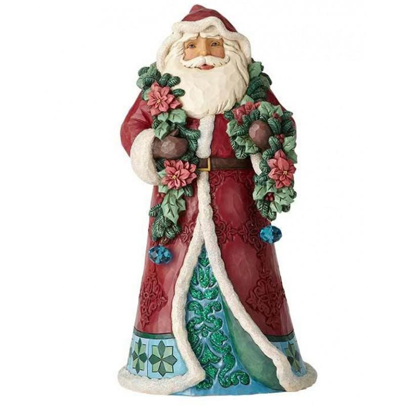 Babbo Natale Vittoriano con Festone