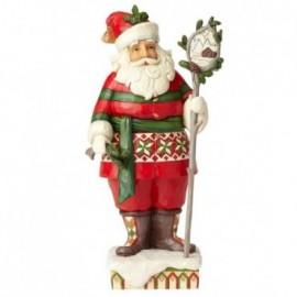 Babbo Natale folcloristico con scena invernale