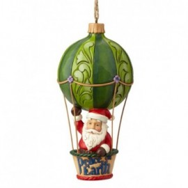 Addobbo Babbo Natale su mongolfiera