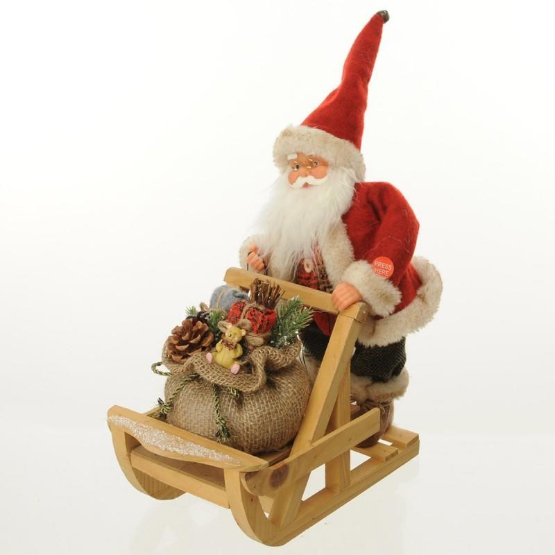 Babbo Natale sulla slitta con doni Musica e Movimento