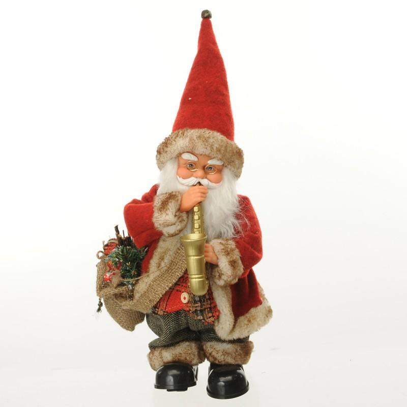 Babbo Natale con strumento Sax Musica e Movimento