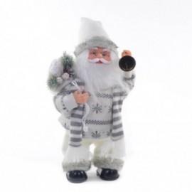 Babbo Natale con Campanella con Movimento e Musica colore white e grey
