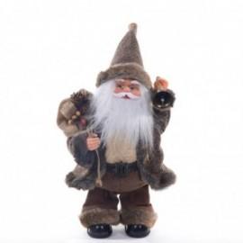 Babbo Natale con Campanella con Movimento e Musica colore marrone e beige