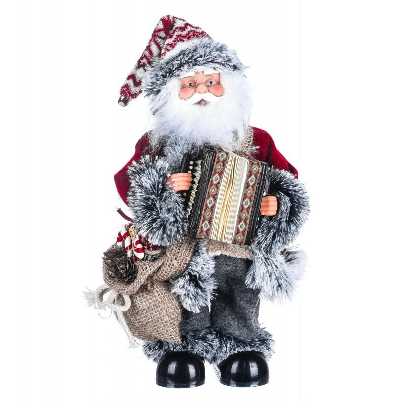 """Babbo Natale con strumento Musicale """"fisarmonica"""" con musica e movimento"""