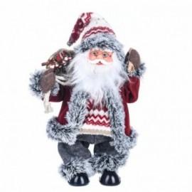 Babbo Natale con Campanella con Movimento e Musica colore rosso