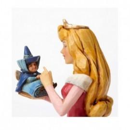 Aurora con fata madrina in mano