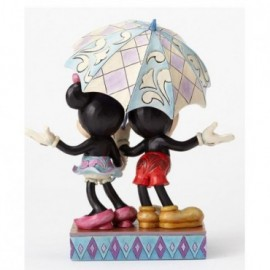 Minnie e Topolino sotto l'ombrello