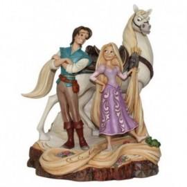 Flynn e Rapunzel con cavallo